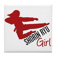 Shorin Ryu Girl Tile Coaster
