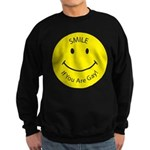 Smile If You are Gay (Smiley Sweatshirt (dark)