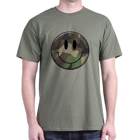 Camo Smiley Face Dark T-shirt