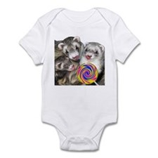 Ferrets with Lollipop Infant Bodysuit