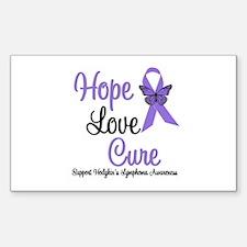 Hodgkins HopeLoveCure Rectangle Sticker 10 pk)