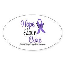 Hodgkins HopeLoveCure Oval Sticker (10 pk)