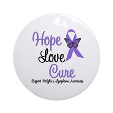 Hodgkins HopeLoveCure Ornament (Round)