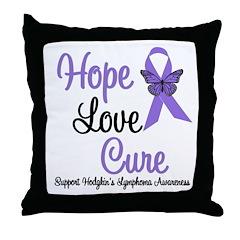 Hodgkins HopeLoveCure Throw Pillow