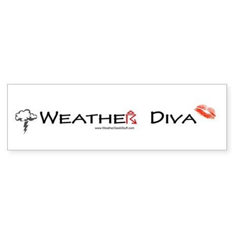Weather Diva Bumper Sticker
