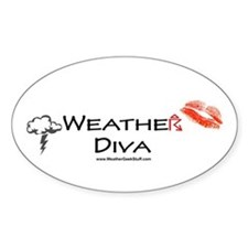 Weather Diva Oval Decal