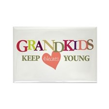 grandkids keep hearts young t-shirt Rectangle Magn