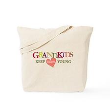 grandkids keep hearts young t-shirt Tote Bag
