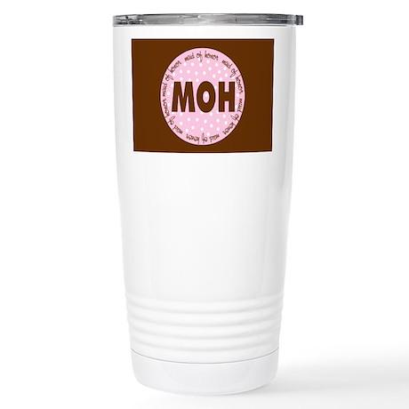 Polka Dot Maid of Honor Stainless Steel Travel Mug