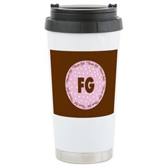 Polka Dot Flower Girl Stainless Steel Travel Mug