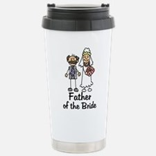 Cartoon Bride's Father Stainless Steel Travel Mug