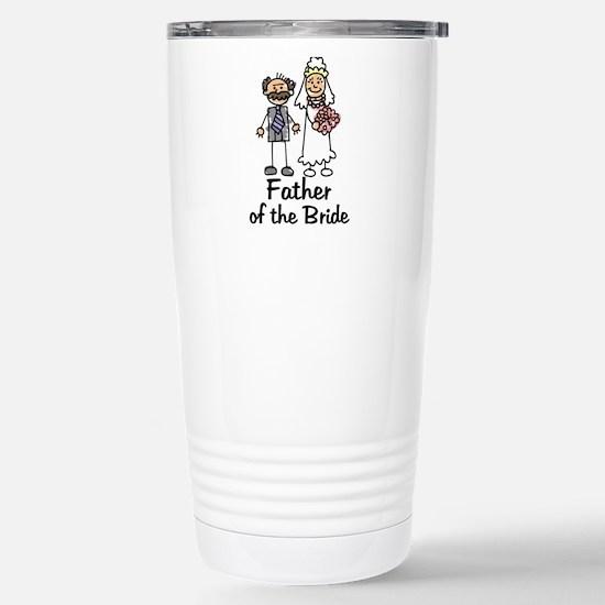 Cartoon Bride's Father Stainless Steel Travel Mug