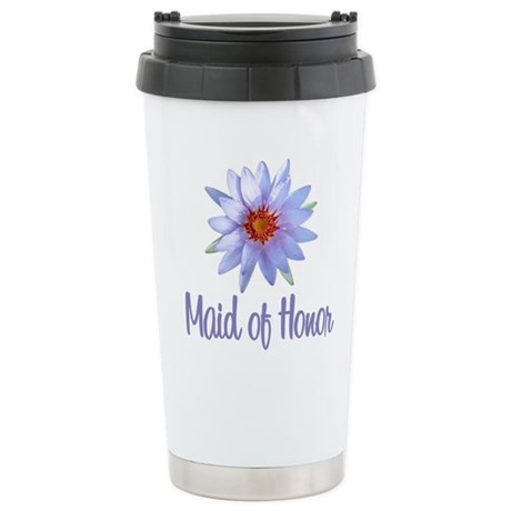 Lotus Maid of Honor Stainless Steel Travel Mug
