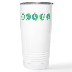 Retro Dots Bride Design Travel Mug