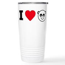I Heart Pandas Travel Mug