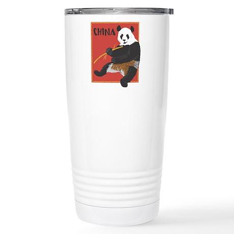 China Panda Stainless Steel Travel Mug