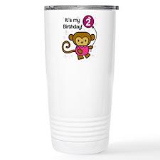Monkey 2nd Birthday Travel Mug
