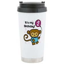 Monkey 2nd Birthday Travel Mug