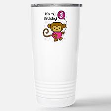 Monkey 3rd Birthday Travel Mug