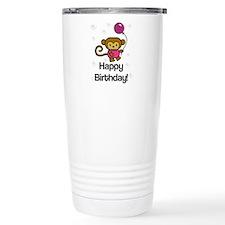 Happy Birthday Monkey Travel Mug