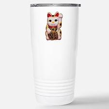 Lucky Cat Stainless Steel Travel Mug