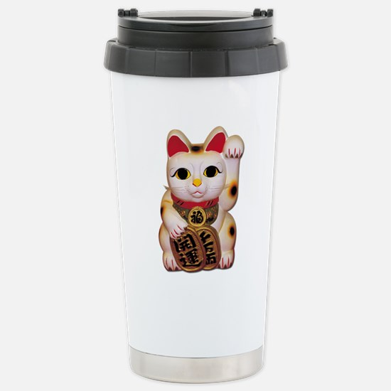 Lucky Cat Stainless Steel Travel Mug
