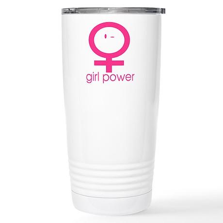Girl Power Wink Stainless Steel Travel Mug