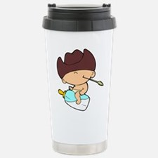 Milk Bottle Cowboy Travel Mug