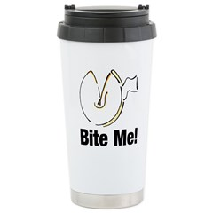 Bite Me Fortune Cookie Stainless Steel Travel Mug