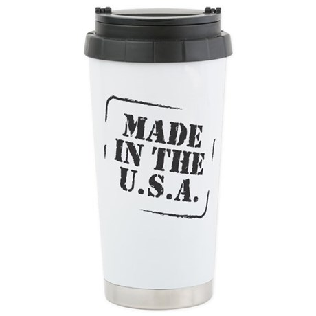 Made in the USA B&W Stainless Steel Travel Mug