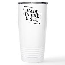 Made in the USA B&W Travel Mug