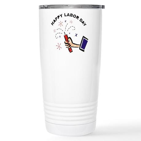 Labor Day Firecracker Stainless Steel Travel Mug
