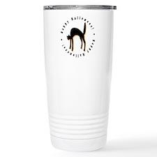 Black Cat Halloween Travel Mug