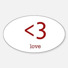 love <3 Oval Decal