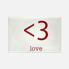 love <3 Rectangle Magnet