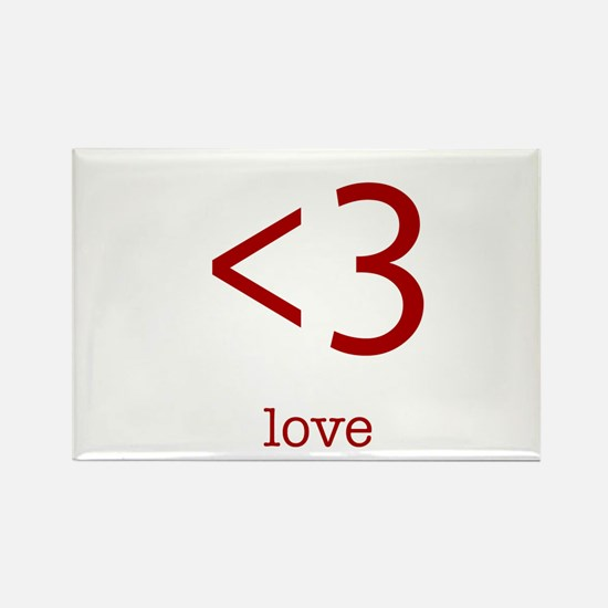 love <3 Rectangle Magnet