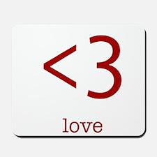 love <3 Mousepad
