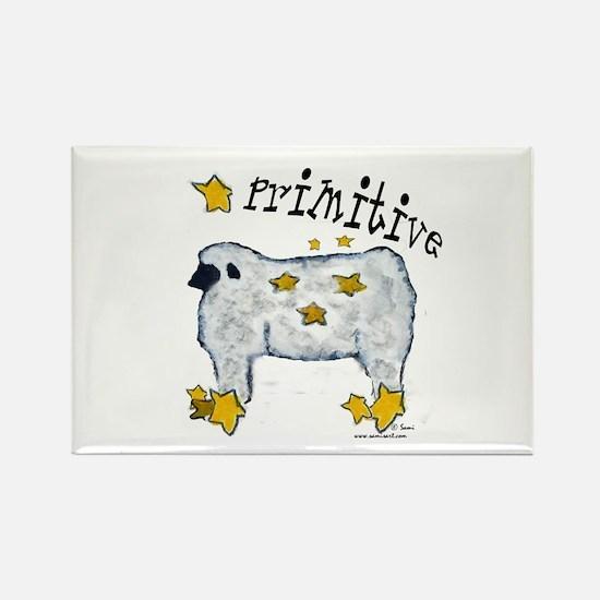 Primitive Sheep Rectangle Magnet