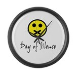 Day of Silence Large Wall Clock