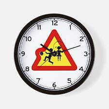 Caution Playground, Switzerland Wall Clock