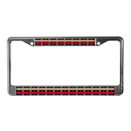 Striped License Plate Frame