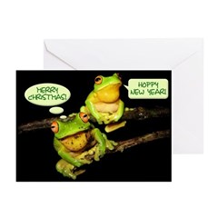 Hoppy New Year Frogs Greeting Cards (Pk of 10)