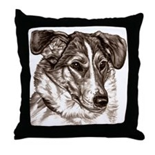Smooth Collie Portrait Throw Pillow