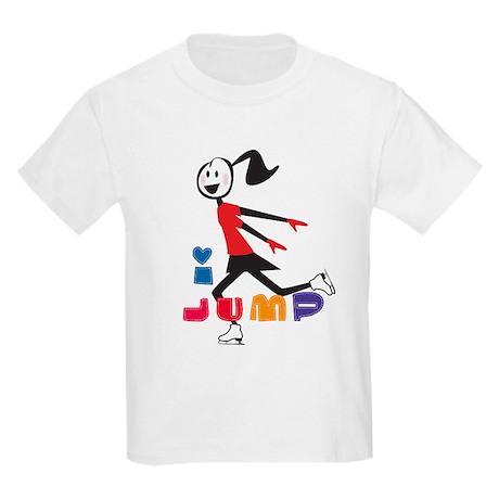 i spin, i jump Ice Skating Kids Light T-Shirt