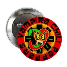"""Vampire Chili Peppers Red 2.25"""" Button"""