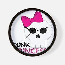 punk princess Wall Clock