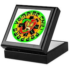 Vampire Chili Peppers Green Keepsake Box