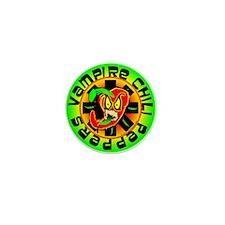 Vampire Chili Peppers Green Mini Button