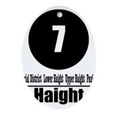7 Haight (Classic) Oval Ornament