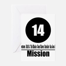 14 Mission (Classic) Greeting Cards (Pk of 10)